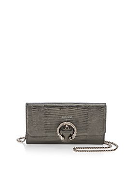 Jimmy Choo - Mini Embossed Leather Chain Wallet