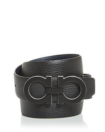Salvatore Ferragamo - Men's Double Gancini Buckle Reversible Leather Belt