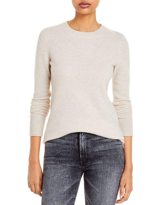 AQUA - Fitted Cashmere Crewneck Sweater - 100% Exclusive