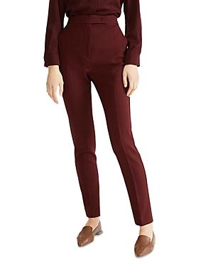 Max Mara Villar Straight Stretch Wool Pants-Women