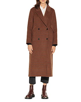 Sandro - Merry Plaid Oversized Coat