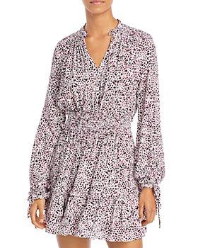 AQUA - Printed Smocked Dress - 100% Exclusive
