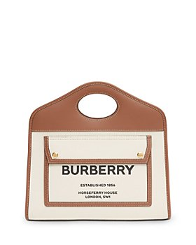 Burberry - Small Leather Pocket Tote Bag