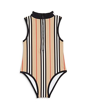 Burberry - Girls' Siera Icon Stripe One Piece Swimsuit - Little Kid, Big Kid