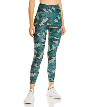 AQUA - Camo Print Knit Leggings - 100% Exclusive