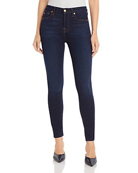 7 For All Mankind - Slim Illusion Luxe High-Waist Ankle Skinny Jeans in Tried & True