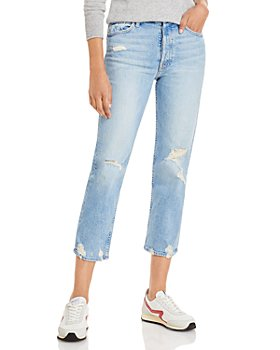 MOTHER - The Tomcat Distressed Crop Jeans in The Confession