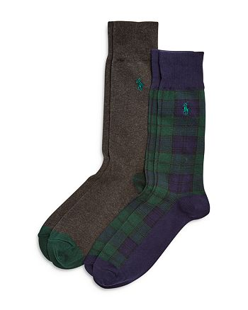 Polo Ralph Lauren - Blackwatch Tartan Slack Socks, Pack of 2