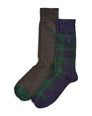 Polo Ralph Lauren BLACKWATCH TARTAN SLACK SOCKS, PACK OF 2