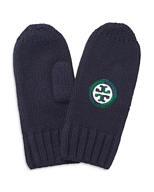 Tory Burch Color Block Logo Merino Wool Mittens-Jewelry & Accessories