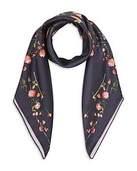 Burberry - Dark Floral Silk Square Scarf