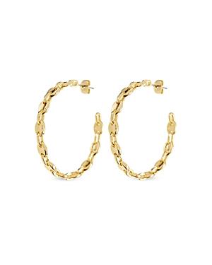 Luv Aj Mariner Link Hoop Earrings