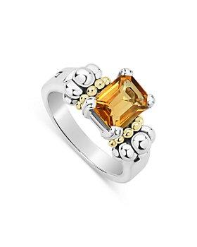 LAGOS - Sterling Silver & 18K Yellow Gold Glacier Citrine Ring