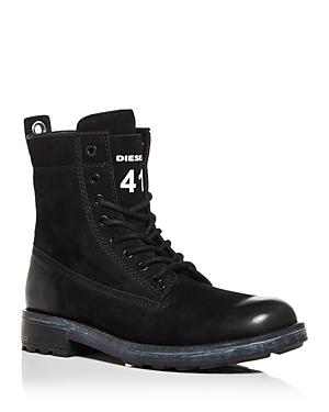 Diesel Men's Throuper Lace Up Combat Boots