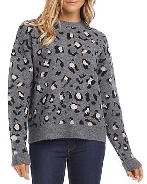 Karen Kane Animal Print Jacquard Sweater