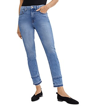 7 For All Mankind - Distressed Hem Ankle Jeans in Harlow