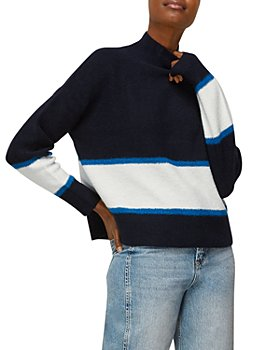Whistles - Color Blocked Funnel Neck Sweater