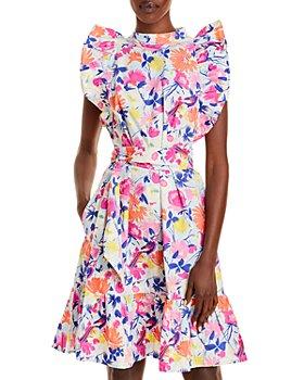 Banjanan - Ruffle Sleeve Floral Mini Dress