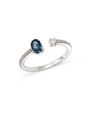 Hueb 18K White Gold Diamond & Sapphire Ring