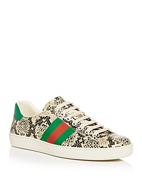 Gucci - Men's New Ace Python Print Low Top Sneakers