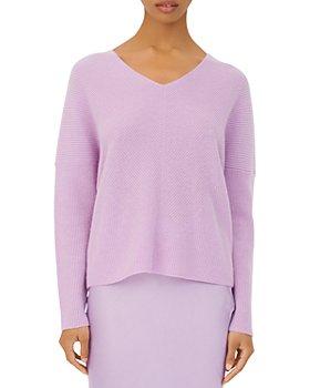 Maje - Madina Ribbed Cashmere V-Neck Sweater