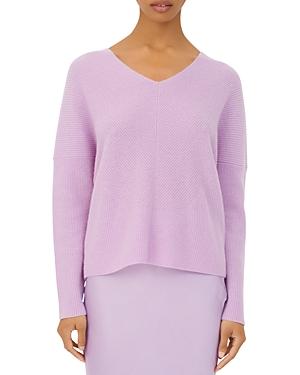 Maje Madina Ribbed Cashmere V-Neck Sweater