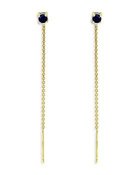 Bloomingdale's - Blue Sapphire Drop Earrings in 18K Gold Plated Sterling Silver  - 100% Exclusive