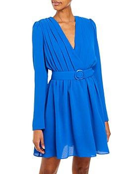 AQUA - Pleated Crepe Dress – 100% Exclusive