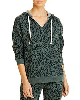 ALTERNATIVE - Animal Print Hooded Sweatshirt
