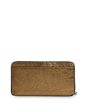 ALLSAINTS - Fetch Metallic Leather Phone Wristlet