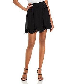 MILLY - Jess Ruffled Chiffon Mini Skirt