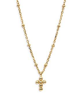 "Nadri - Lala Beaded Cross Pendant Necklace, 18"""