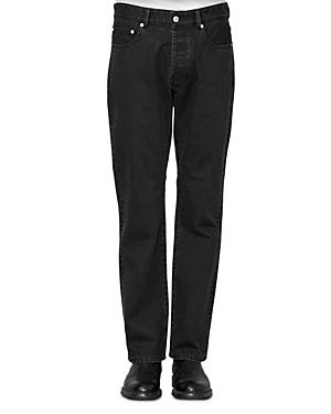 Officine Generale James Straight Jeans in Black