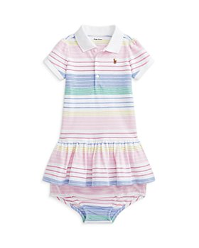 Ralph Lauren - Girls' Cotton Striped Polo Dress and Bloomers Set - Baby
