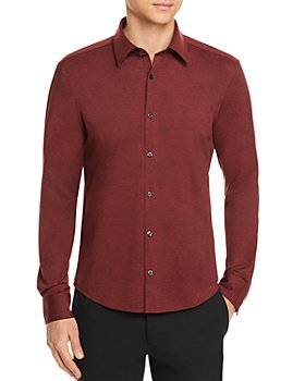 HUGO - Ermo Stretch Jersey Slim Fit Button Down Shirt
