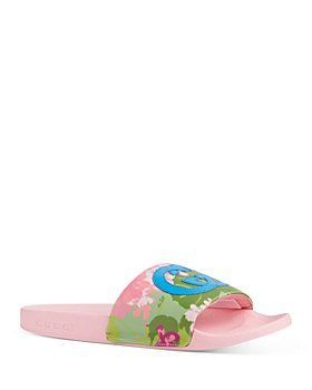 Gucci - x Ken Scott Women's Pursuit Floral Print Slide Sandals