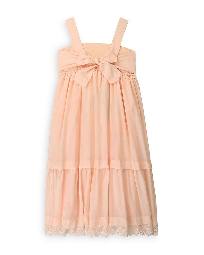 CHLOÉ Cottons GIRLS' COTTON TIERED SLEEVELESS DRESS - BIG KID