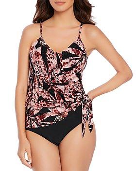 Magicsuit - Urban Safari Alex Tankini Top & Solid Jersey Shirred Bikini Bottom