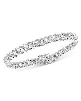 Bloomingdale's - Men's Diamond Link Bracelet in 14K White Gold, 0.60 ct. t.w. - 100% Exclusive