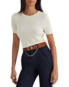 Ralph Lauren - Cable Knit Short Sleeve Sweater
