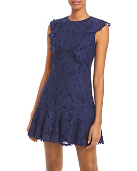 AQUA - Lace Flutter Sleeve Dress - 100% Exclusive