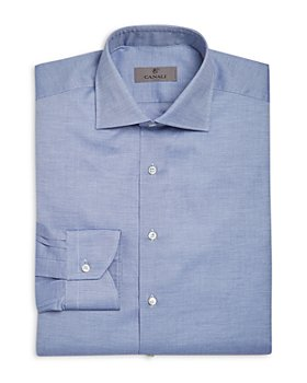 Canali - Crosshatch Textured Solid Classic Fit Dress Shirt