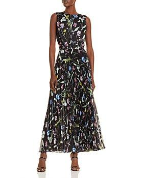Jason Wu - Floral Print Pleated Maxi Dress