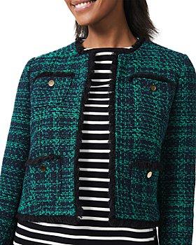 HOBBS LONDON - Rosa Cropped Tweed Jacket