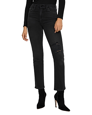 Good American Jeans GOOD CLASSIC RIPPED SKINNY JEANS IN BLACK206