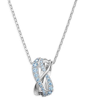 Swarovski Twist Pendant Necklace, 15