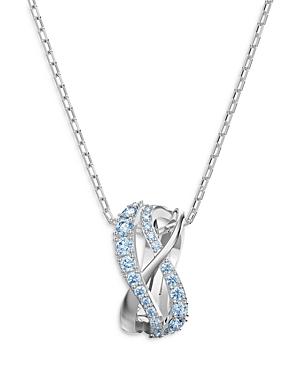 Swarovski Twist Pendant Necklace, 15