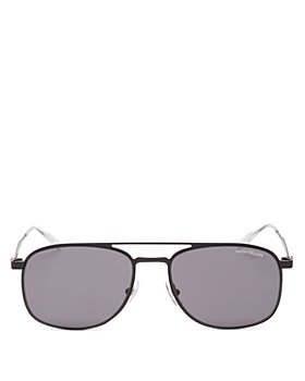 Montblanc - Men's Brow Bar Aviator Sunglasses, 55mm