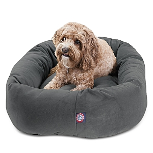 Majestic Pet Faux Suede Bagel Dog Bed, Medium