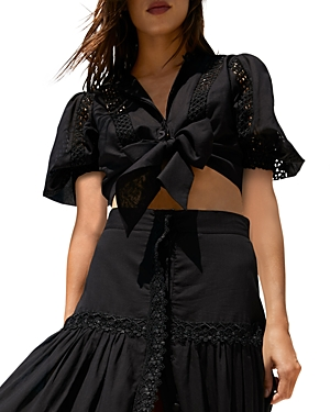 Joan Tie Front Cropped Top